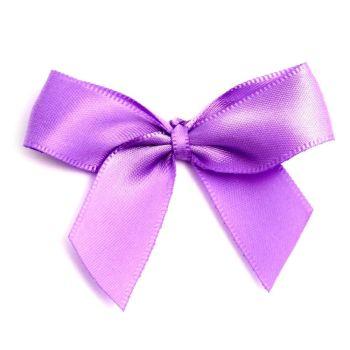 Satin Fabric 15mm Ribbon Bows - Lilac