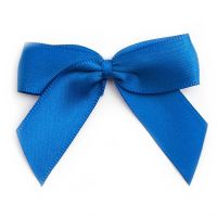 Satin Fabric 15mm Ribbon Bows - Royal Blue