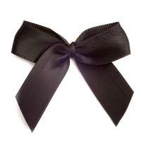 Satin Fabric 15mm Ribbon Bows - Black