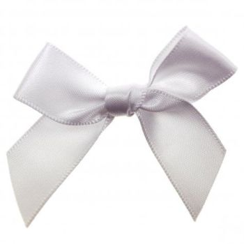 Satin Fabric 15mm Ribbon Bows - White