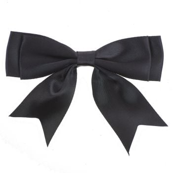 Satin Fabric 25mm Ribbon Bows - Black