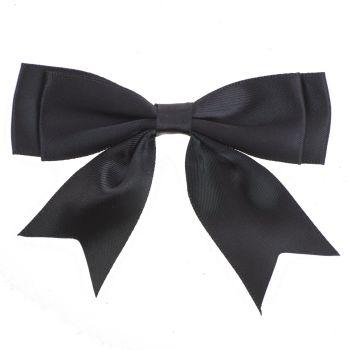 Satin Fabric 25mm Ribbon Bows - Black