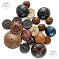 50 Assorted Football & Aran Buttons