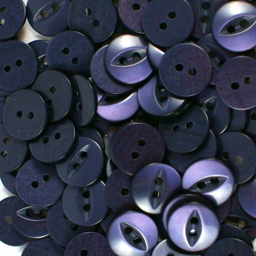 Round Fish Eye Buttons Size 18 - Navy Blue