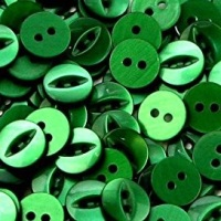Round Fish Eye Buttons Size 18 - Forest Green