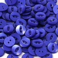 Round Fish Eye Buttons Size 18 - Royal Blue