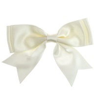 Satin Fabric 25mm Ribbon Bows - Ivory
