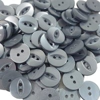 Round Fish Eye Buttons Size 22 - Grey