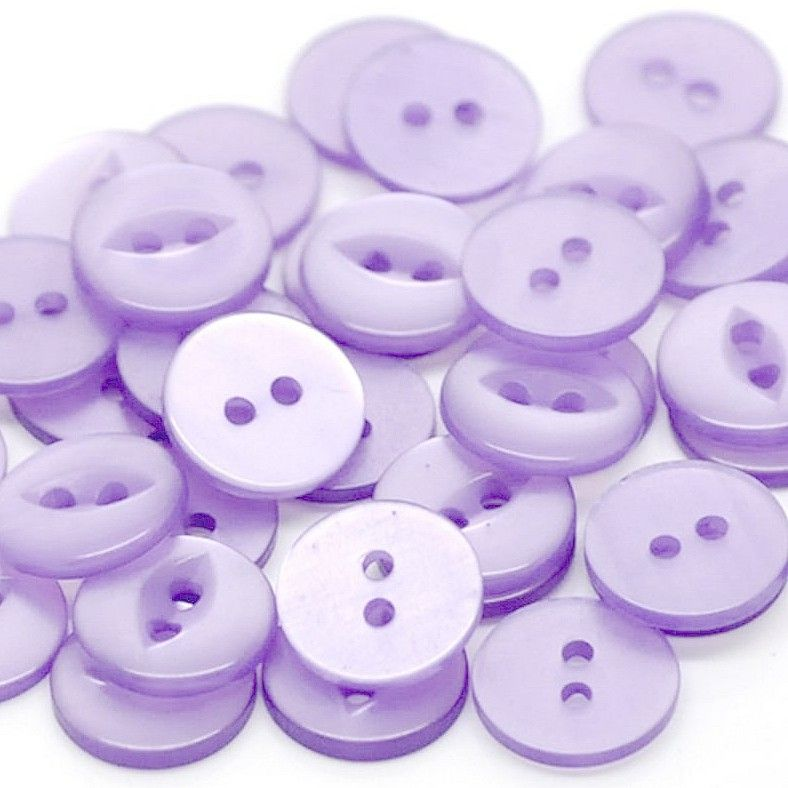 Round Fish Eye Buttons Size 26 -Lilac