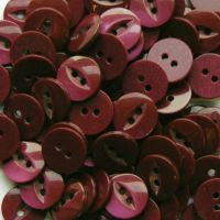 Round Fish Eye Buttons Size 26 - Burgundy