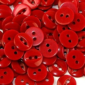 Round Fish Eye Buttons Size 30 - Red