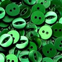 Round Fish Eye Buttons Size 30 - Forest Green