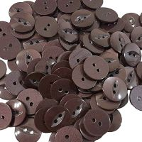 Round Fish Eye Buttons Size 30 - Brown