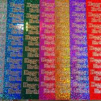 Sparkly Happy Birthday Peel Off Sticker Sheet
