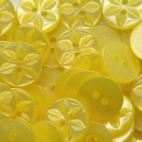 Round Star Buttons Size 18 - Yellow