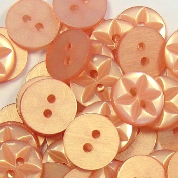 Round Star Buttons Size 18 - Rose Gold