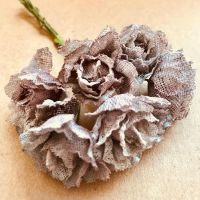 Rustic Hessian Flowers 30mm - Taupe