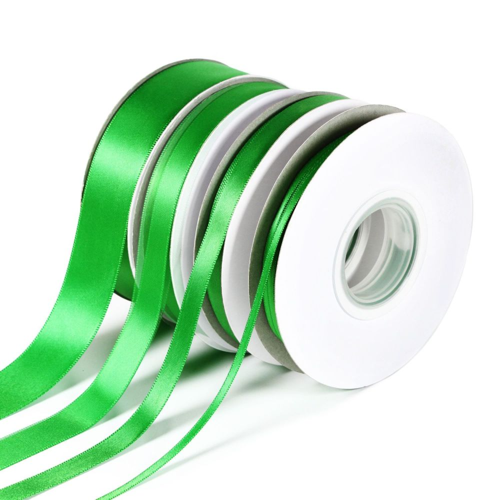 5 Metres Quality Double Satin Ribbon 6mm Wide - Emerald Green