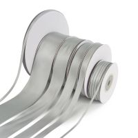 5 Metres Quality Double Satin Ribbon 10mm Wide - Silver Grey