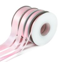5 Metres Quality Double Satin Ribbon 10mm Wide - Light Pink