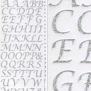 Sparkly Glitter Alphabet Stickers - Silver