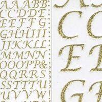 Sparkly Glitter Alphabet Stickers - Gold