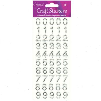 Sparkly Diamante Number Stickers
