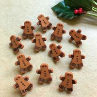(CLEARANCE) Christmas Gingerbread Buttons 15mm