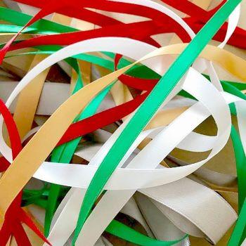 5 Metres Quality Double Satin Ribbon Mixed Christmas Bundle