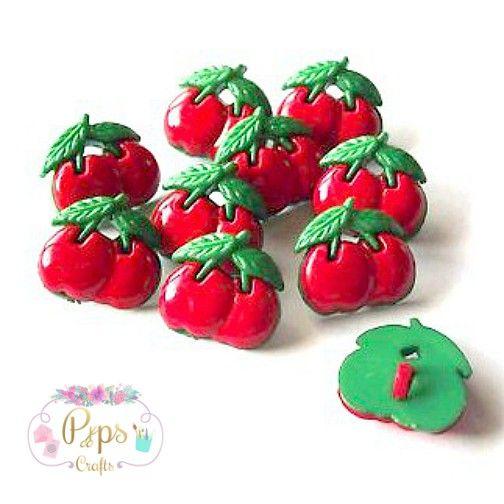 Cherry Buttons 15mm