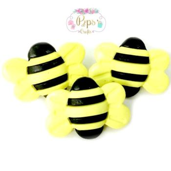 Large Bumble Bee Buttons - 25mm