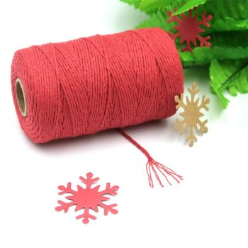 2mm Wide Bakers Twine - Red