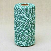 2mm Wide Bakers Twine - Green & White