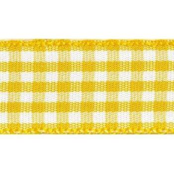 Berisfords 5mm Wide Gingham Ribbon - Gold