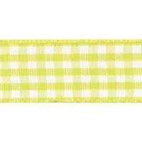 Berisfords 5mm Wide Gingham Ribbon - Lemon