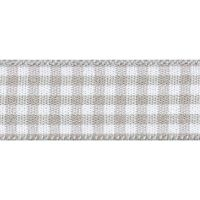 Berisfords 5mm Wide Gingham Ribbon - Steel Grey