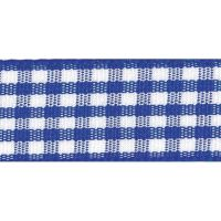 Berisfords 5mm Wide Gingham Ribbon - Royal Blue