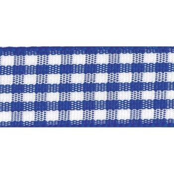 Berisfords 5mm Wide Gingham Ribbon - Royal Blue