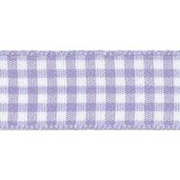 Berisfords 5mm Wide Gingham Ribbon - Orchid (Lilac)