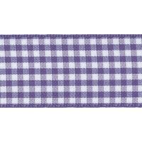 Berisfords 5mm Wide Gingham Ribbon - Liberty (Purple)