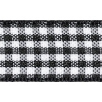 Berisfords 5mm Wide Gingham Ribbon - Black