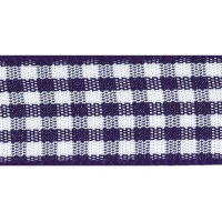 Berisfords 10mm Wide Gingham Ribbon - Navy Blue