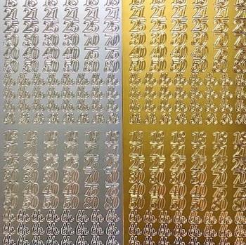 Jubilee Numbers -  Peel Off Sticker Sheet
