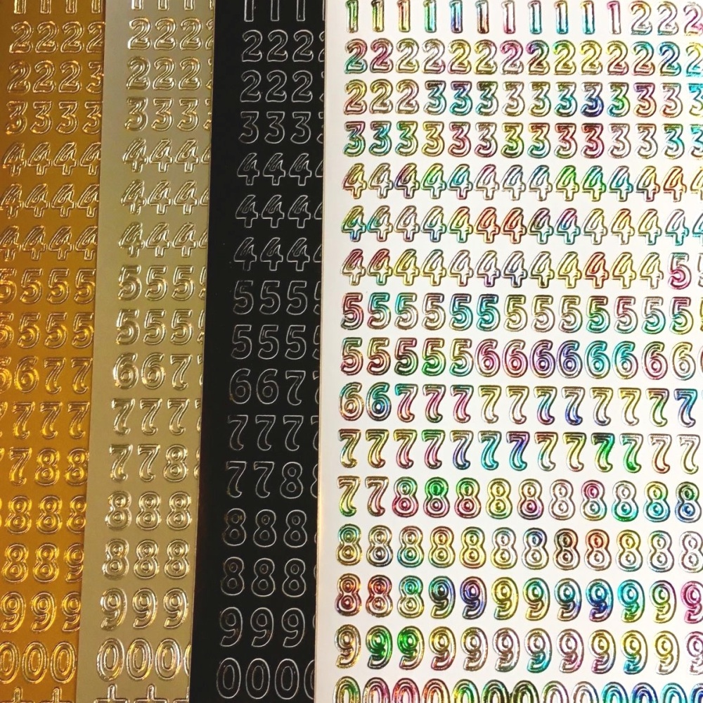 Numbers Peel Off Sticker Sheet