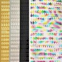 Alphabet Lower Case Letters Peel Off Sticker Sheet