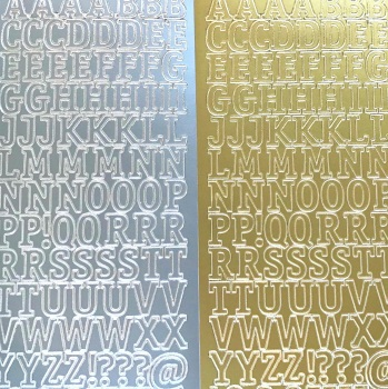 Large Alphabet Capital Letters Peel Off Sticker Sheet