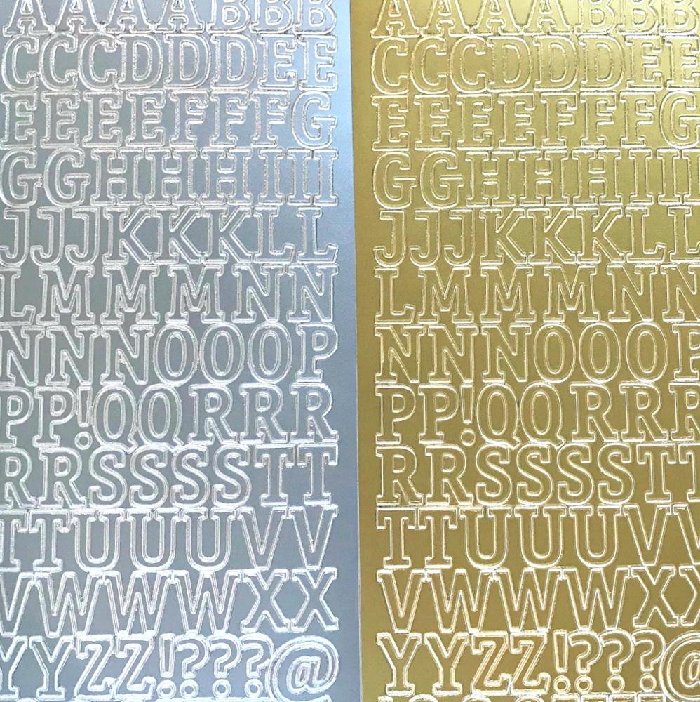 Large Alphabet Capital Letters Peel Off Sticker Sheet