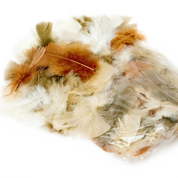 100+ Assorted Natural Feathers (12g)