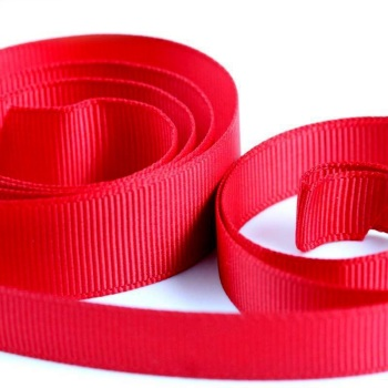 5 Metres Quality Grosgrain Ribbon 3mm Wide - Red