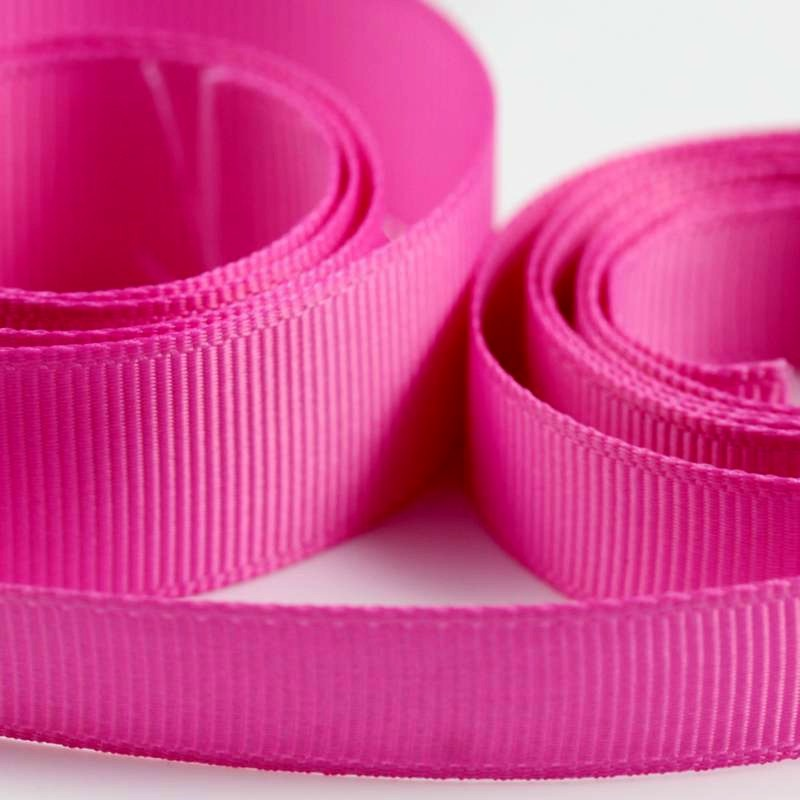 5 Metres Quality Grosgrain Ribbon 3mm Wide - Cerise Pink